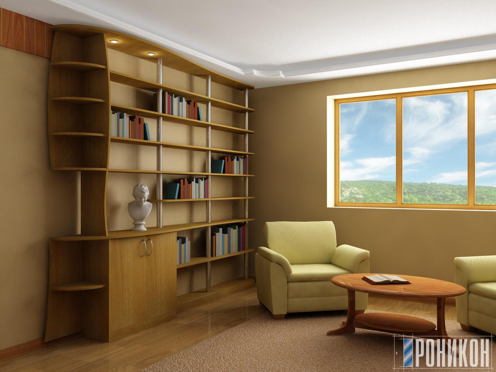 Библиотеки и стеллажи мебельный магазин zheldor-mebel.ru - ш.